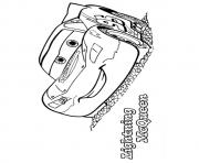 Print Cars The Lightning McQueen a4 disney coloring pages