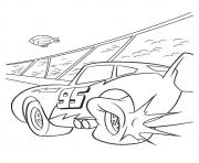 Cars Lightning McQueen tier blast a4 disney coloring pages
