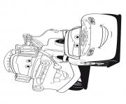 Print Cars Lightning McQueen with friend a4 disney coloring pages