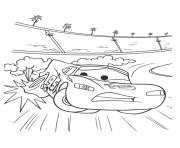 Printable Cars The Zooming Off The Track a4 disney coloring pages