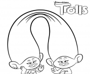 Printable Trolls Coloring for Girls coloring pages