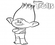 branch trolls coloring pages