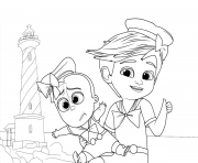 Tim And The Boss Baby Up For Some Adventure coloring pages