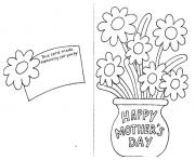 Printable happy mothers day card by coloring pages