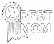 Printable worlds best mom mothers day best mom number 1  coloring pages