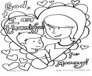 Printable Mothers Day i am thankful for mommy coloring pages