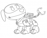 Printable PAW Patrol Robo Dog coloring pages