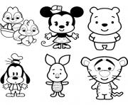 Printable Disney Cuties Tsum Tsum Kids coloring pages