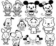 Disney Cuties Tsum Coloring Pages