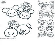 Tsum Tsum Coloring Book