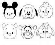 Printable tsum tsum disney colouring pages coloring pages
