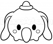 Printable tsum tsum dumbo disney coloring pages