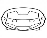 Print tsum tsum iron man coloring pages