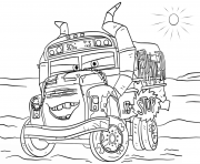 miss fritter from cars 3 disney coloring pages