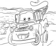 Print tow mater from cars 3 disney coloring pages