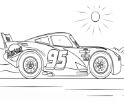 Printable lightning mcqueen from cars 4 disney coloring pages