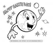 earth happy earth day smile coloring pages