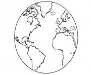 earth planet coloring pages