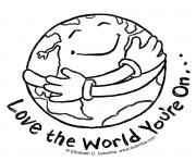 earth love the world you are on coloring pages