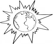 Printable Planet Earth in Front of the Sun coloring pages