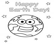happy earth day smile earth world coloring pages