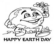 Printable Earth Day Happy Kids coloring pages
