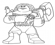 Printable lego moana disney maui coloring pages