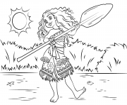 Printable princess moana waialiki having fun coloring pages