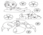Printable Moana baby disney coloring pages