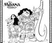 Printable moana disney moana maui pet pig coloring pages