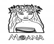 Printable Moana princess coloring pages