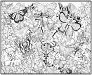 Print butterfly hard sheets for adults coloring pages