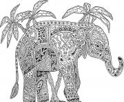 Print elephant adults hard difficult coloring pages coloring pages
