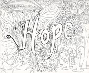 Printable advanced difficult hard hope message adult coloring pages