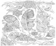 Print for adult feathers difficuult advanced hard coloring pages
