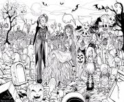 Print hard adult halloween coloring pages coloring pages