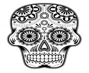 Print sugar skull hd new hard coloring pages