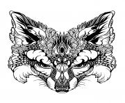 advanced animal fox head coloring pages
