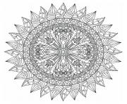 Printable advanced mandala marvelous adults coloring pages