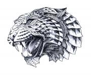 hard animal difficult advanced leopart tattoo sketches draw coloring pages
