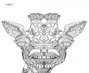 advanced toothy giraffe animal coloring pages