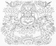 Printable advanced woman flowers adult zen yoga coloring pages