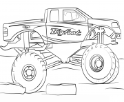 Print bigfoot monster truck cool coloring pages