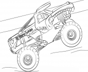 very easy monster truck coloring pages - Monster Truck Coloring Pages Easy