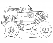 Print grave digger monster truck bigfoot coloring pages