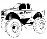 Printable Monster Truck Big Foot coloring pages