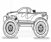 Print Monster Truck Printable fire coloring pages