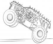 Printable max d monster truck bigfoot coloring pages