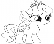 Printable diamond tiara my little pony coloring pages