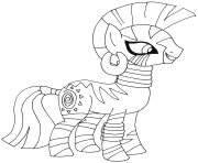 Printable zecora my little pony coloring pages